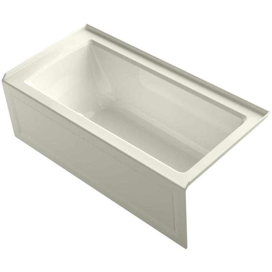 KOHLER Underscore 60-in L x 30-in W x 19-in H Acrylic Rectangular Drop-in Air Bath