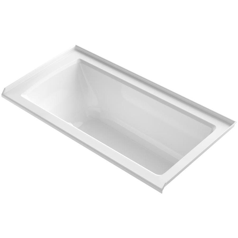 KOHLER Underscore 60-in L x 30-in W x 19-in H Acrylic Rectangular Alcove Air Bath