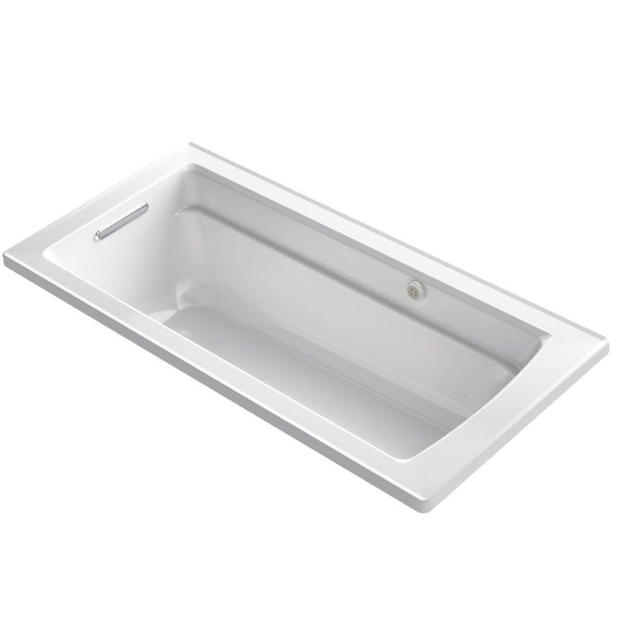 KOHLER Archer 66-in L x 32-in W x 19-in H White Acrylic Rectangular Drop-in Air Bath