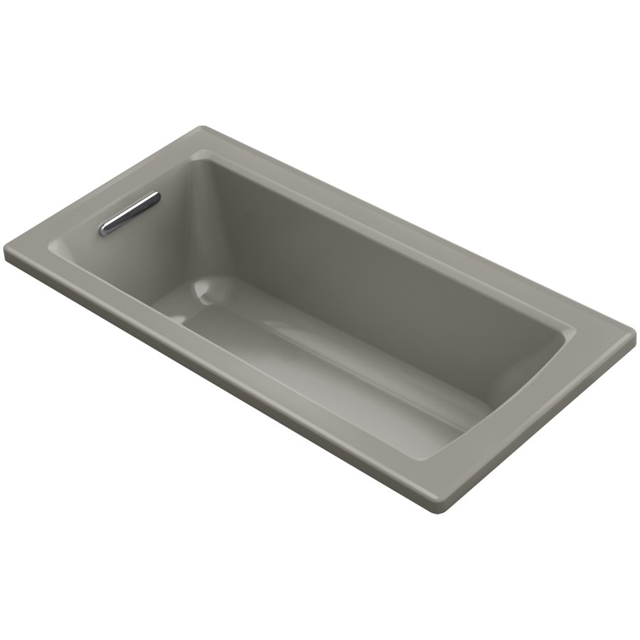 KOHLER Archer Cashmere Acrylic Rectangular Drop-in Bathtub with Reversible Drain (Common: 30-in x 60-in; Actual: 19-in x 30-in x 60-in)