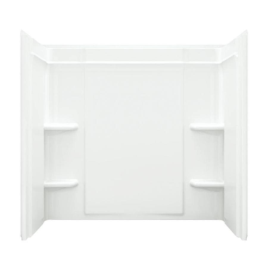 Sterling Ensemble Fiberglass and Plastic Composite Bathtub Wall Surround (Common: 60-in x 32-in; Actual: 55-in x 60-in x 33.25-in)