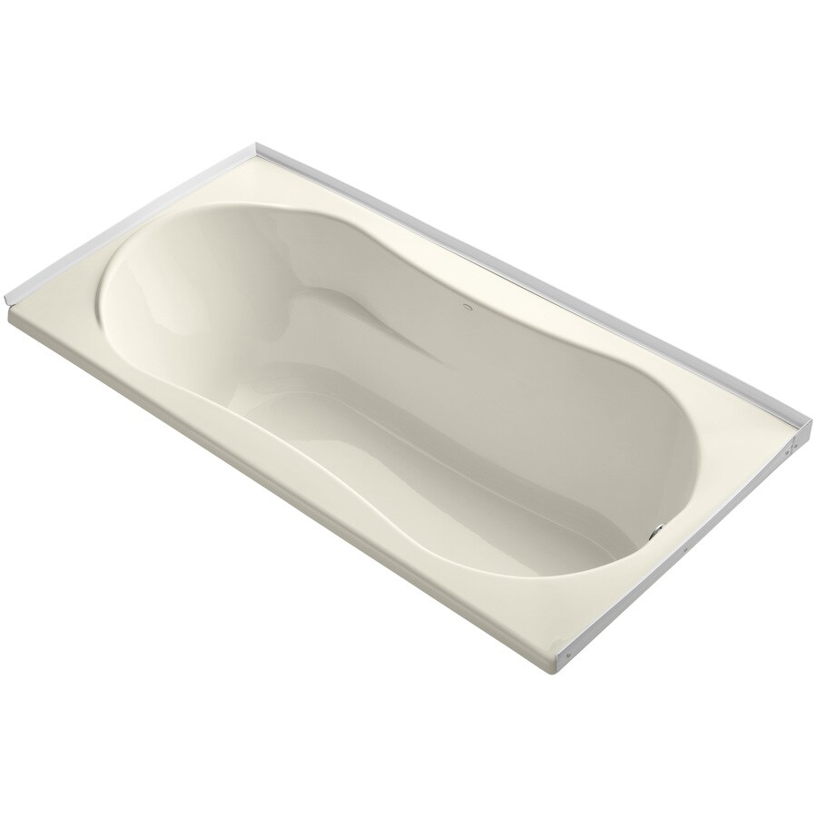 KOHLER ProFlex Almond Acrylic Hourglass In Rectangle Drop-in Bathtub with Right-Hand Drain (Common: 36-in x 72-in; Actual: 20.13-in x 36-in x 72-in)
