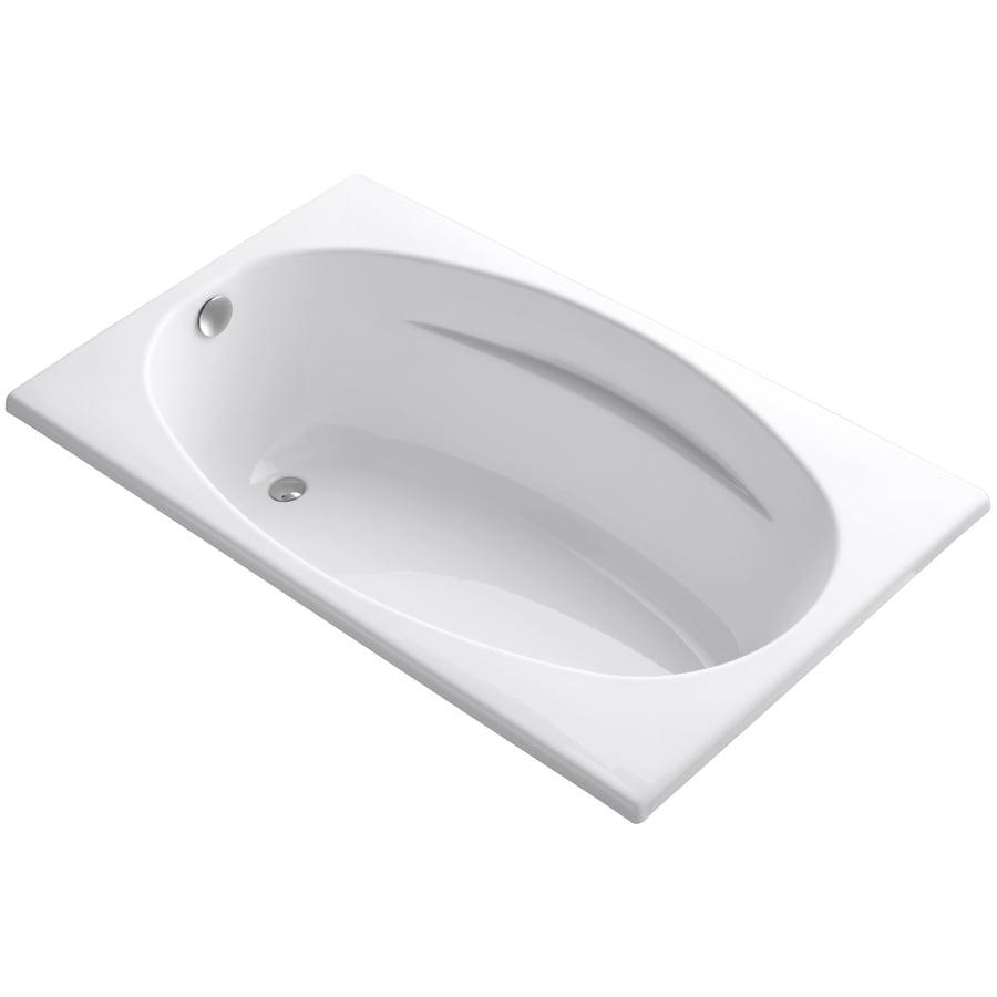 Shop KOHLER ProFlex White Acrylic Oval In Rectangle Drop
