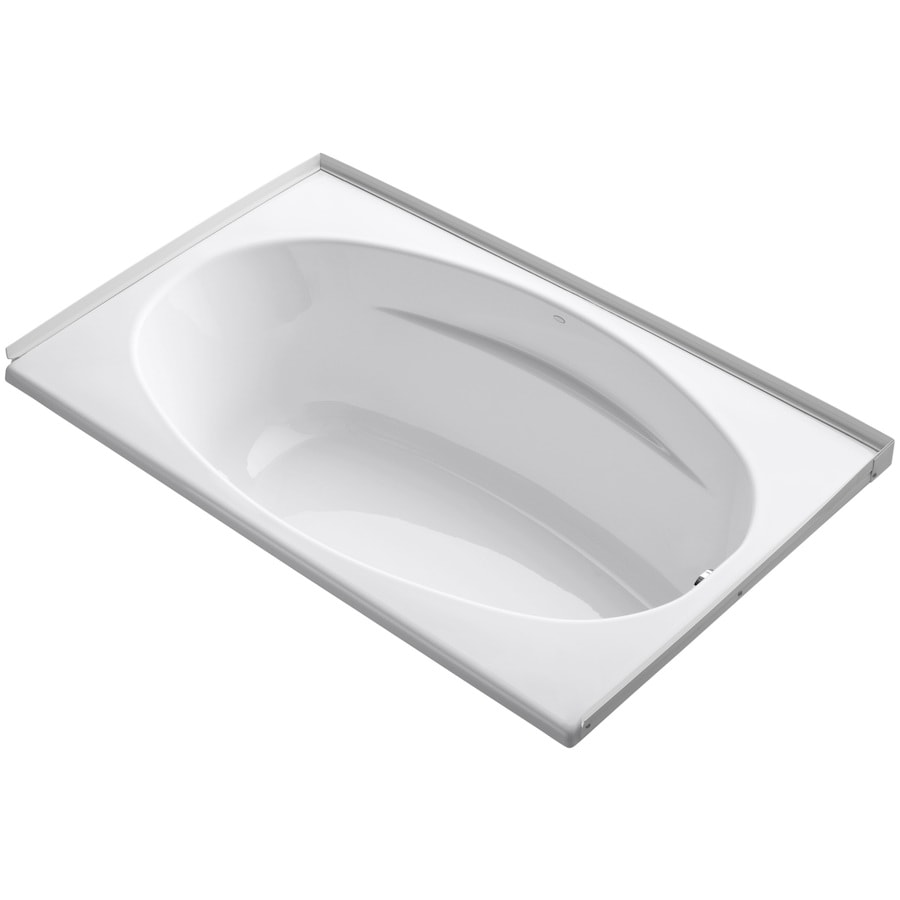 KOHLER ProFlex White Acrylic Oval In Rectangle Drop-in Bathtub with Right-Hand Drain (Common: 36-in x 60-in; Actual: 18.13-in x 36-in x 60-in)