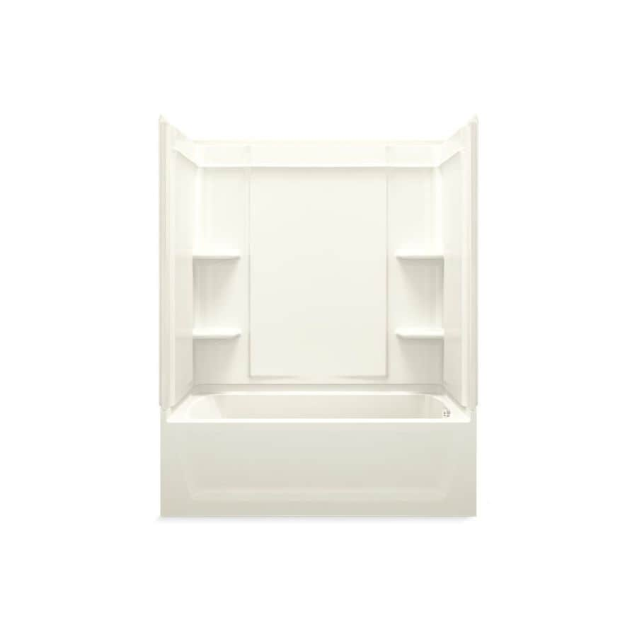 Sterling Ensemble Biscuit Vikrell Wall and Floor 4-Piece Alcove Shower Kit with Bathtub (Common: 60-in x 32-in; Actual: 76.25-in x 60.25-in x 33.25-in)
