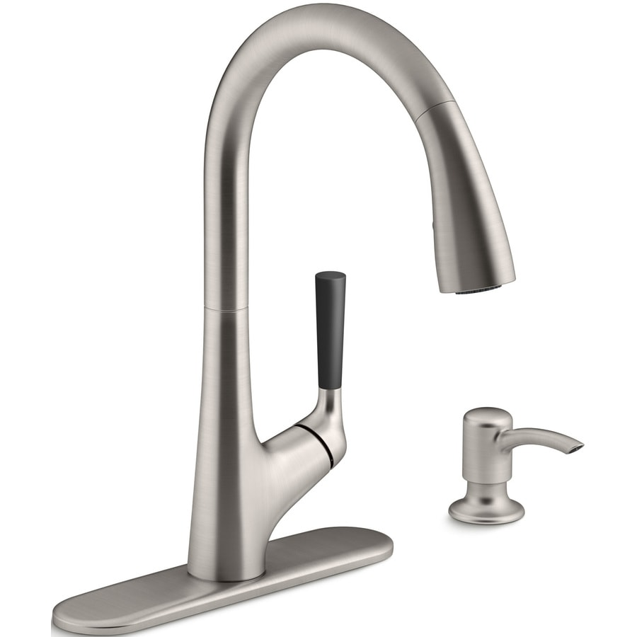 KOHLER Malleco Vibrant Stainless 1-Handle Pull-Down Kitchen Faucet