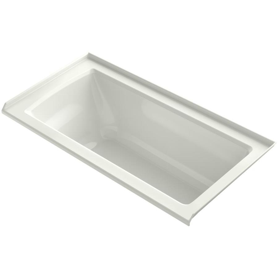 KOHLER Archer Dune Acrylic Rectangular Alcove Bathtub with Right-Hand Drain (Common: 30-in x 60-in; Actual: 20-in x 30-in x 60-in)