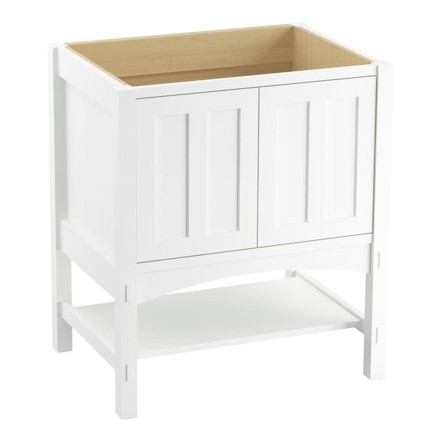 KOHLER Marabou Linen White Traditional Bathroom Vanity (Common: 30-in x 22-in; Actual: 30-in x 21.875-in)