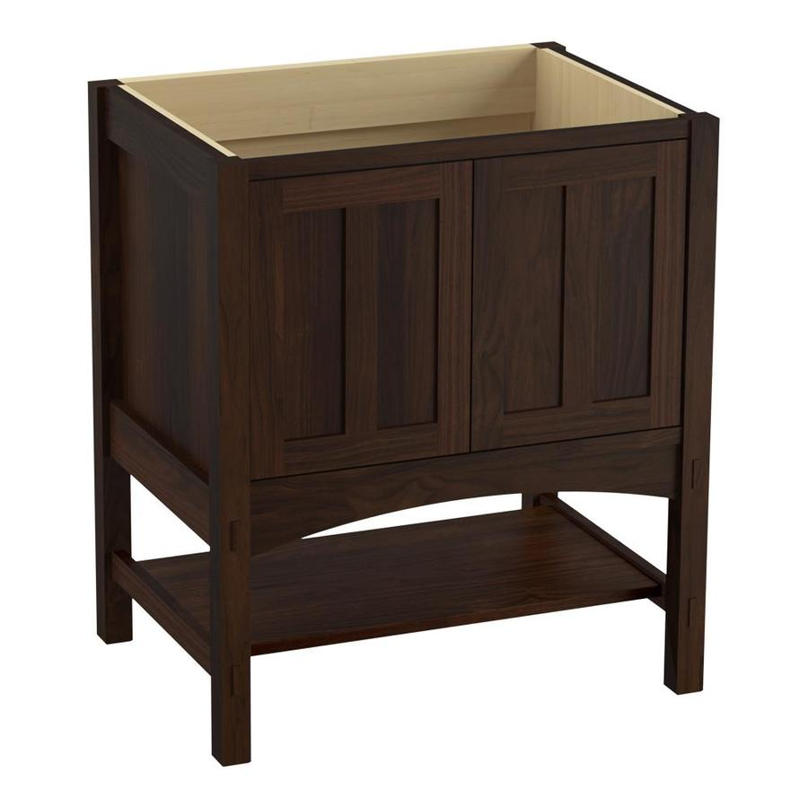 KOHLER Marabou Ramie Walnut Traditional Bathroom Vanity (Common: 30-in x 22-in; Actual: 30-in x 21.875-in)