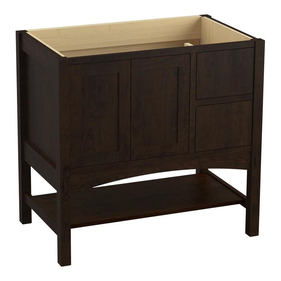 KOHLER Marabou Claret Suede Traditional Bathroom Vanity (Common: 36-in x 22-in; Actual: 36-in x 21.875-in)
