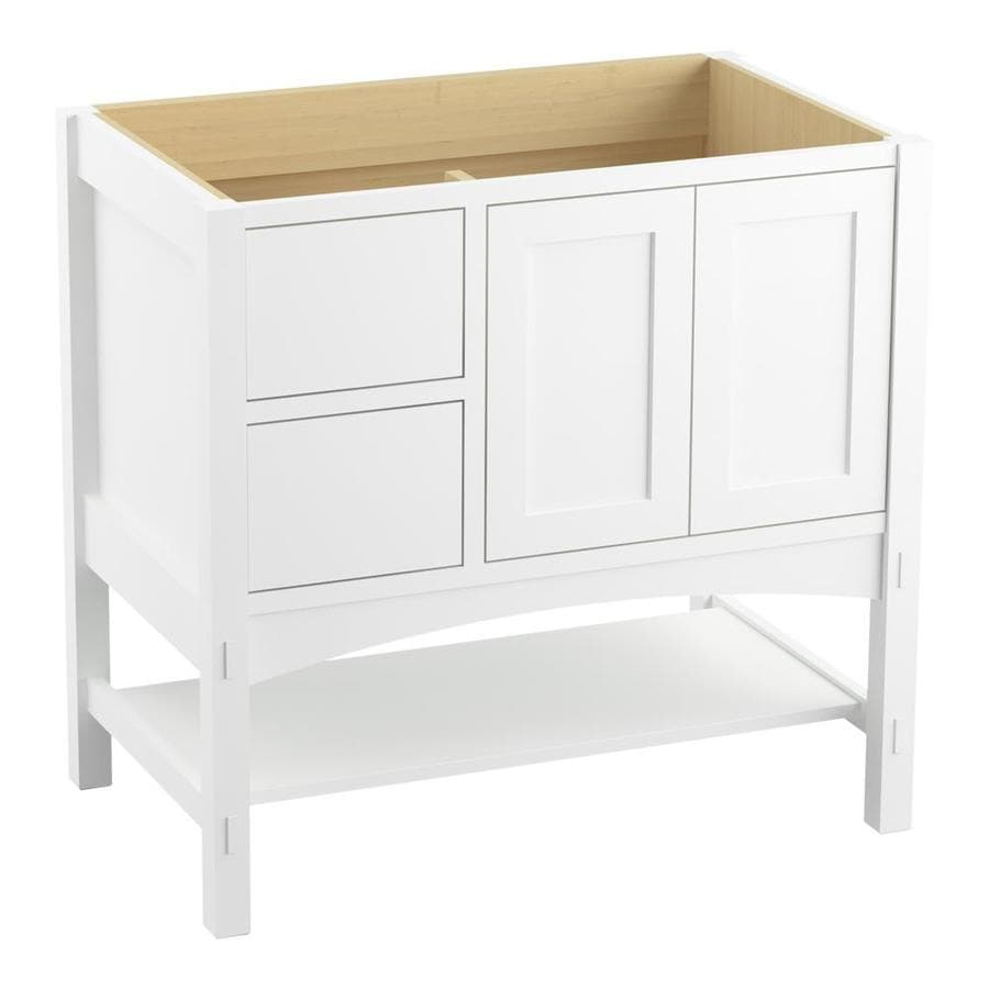 KOHLER Marabou Linen White Traditional Bathroom Vanity (Common: 36-in x 22-in; Actual: 36-in x 21.875-in)