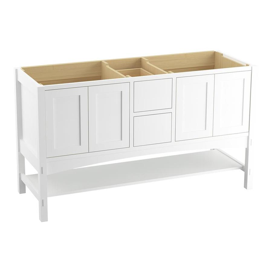 KOHLER Marabou Linen White Traditional Bathroom Vanity (Common: 60-in x 22-in; Actual: 60-in x 21.5-in)