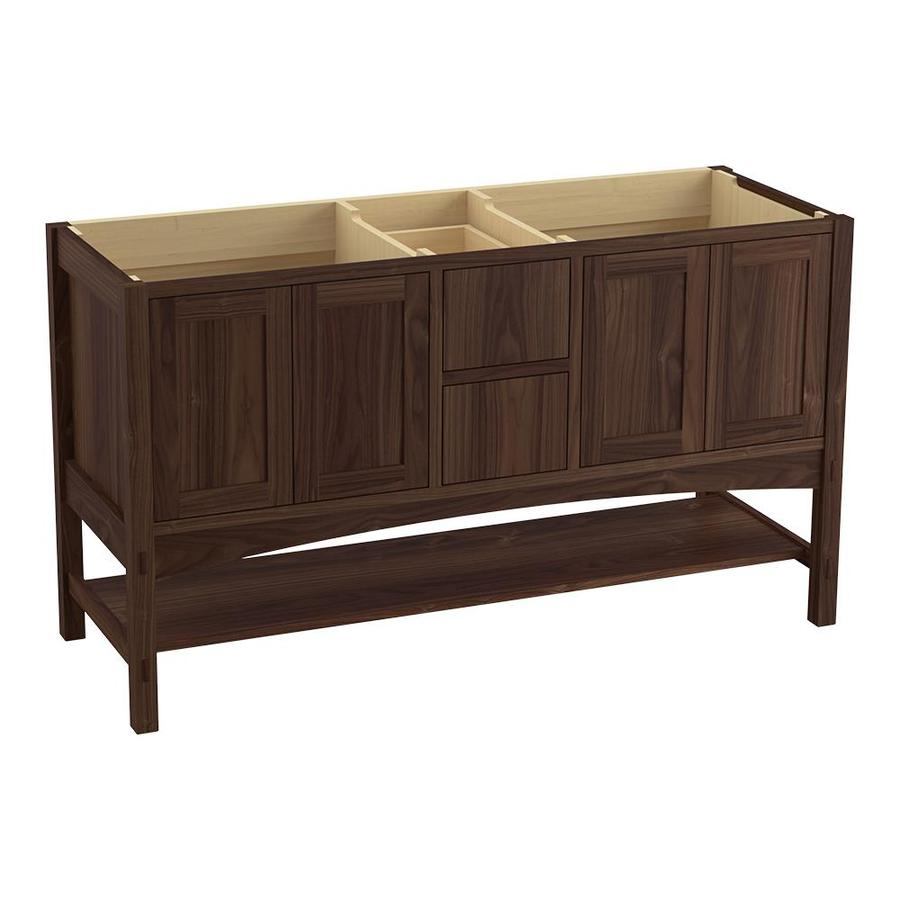 KOHLER Marabou Terry Walnut Traditional Bathroom Vanity (Common: 60-in x 22-in; Actual: 60-in x 21.5-in)