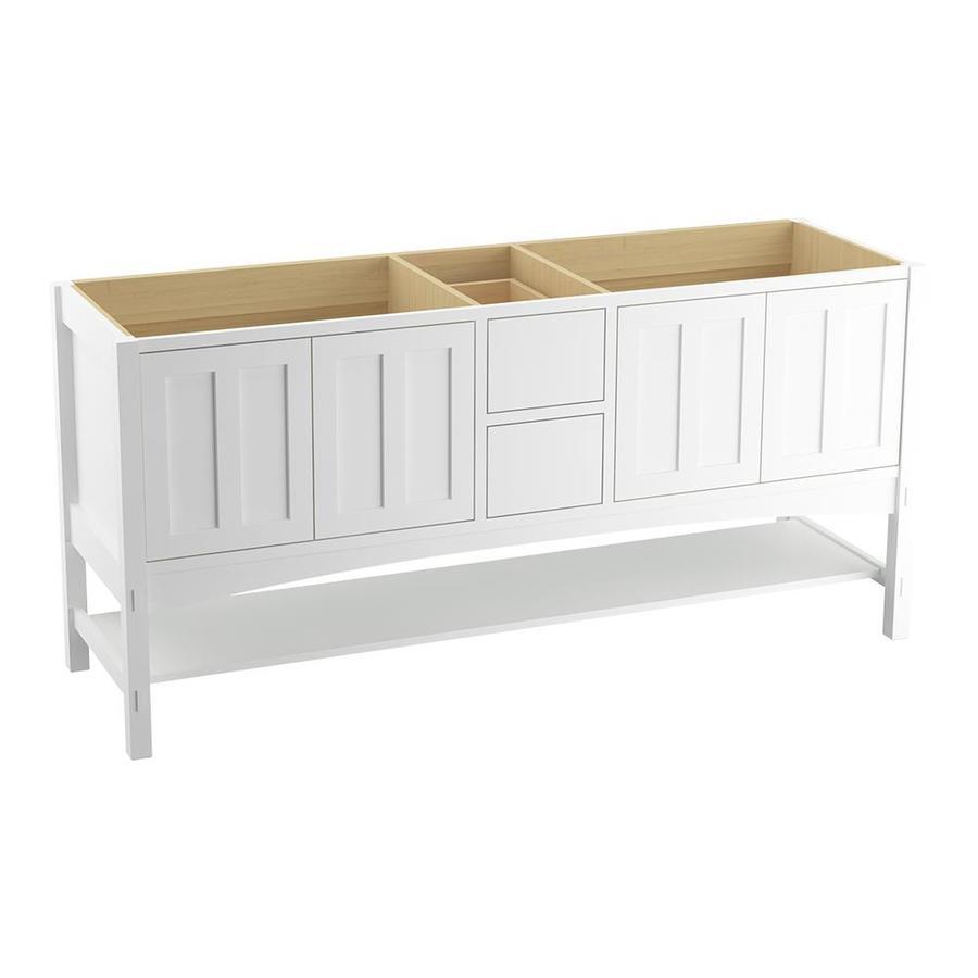 KOHLER Marabou Linen White Traditional Bathroom Vanity (Common: 72-in x 22-in; Actual: 72-in x 21.5-in)