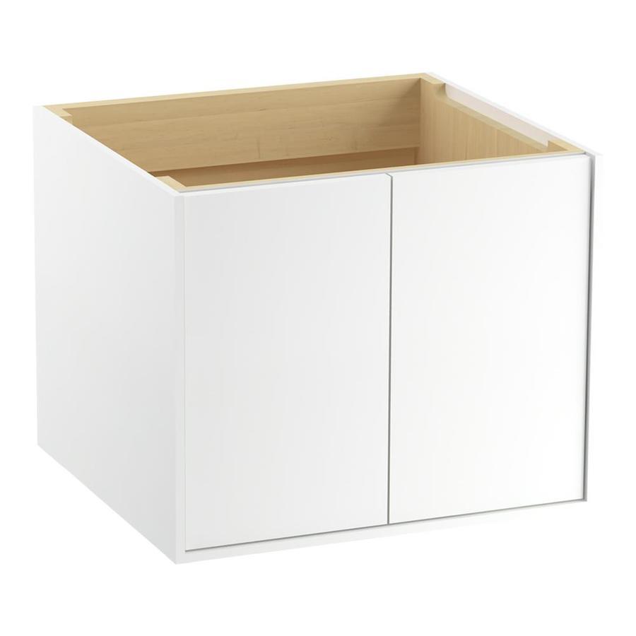 KOHLER Jute Linen White Contemporary Bathroom Vanity (Common: 24-in x 22-in; Actual: 24-in x 21.875-in)