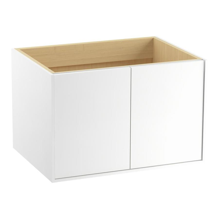 KOHLER Jute Linen White Contemporary Bathroom Vanity (Common: 30-in x 21-in; Actual: 30-in x 21.875-in)