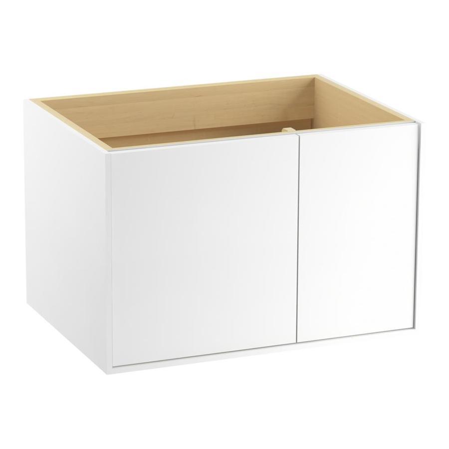 KOHLER Jute Linen White Contemporary Bathroom Vanity (Common: 30-in x 22-in; Actual: 30-in x 21.875-in)