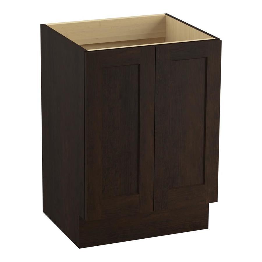 KOHLER Poplin Claret Suede Traditional Bathroom Vanity (Common: 24-in x 22-in; Actual: 24-in x 21.875-in)