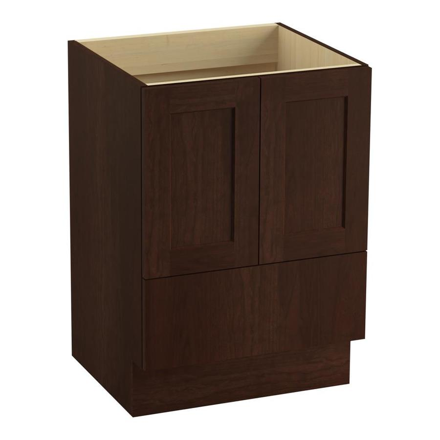 KOHLER Poplin Cherry Tweed Traditional Bathroom Vanity (Common: 24-in x 22-in; Actual: 24-in x 21.875-in)