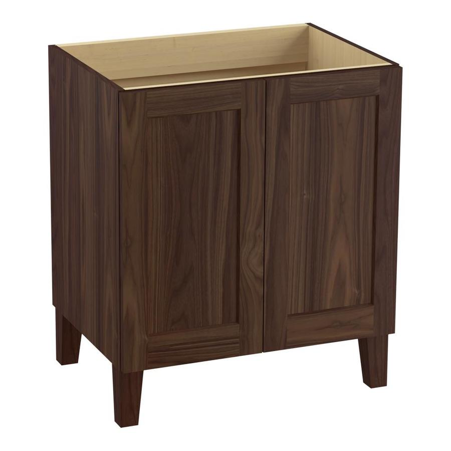 KOHLER Poplin Terry Walnut Traditional Bathroom Vanity (Common: 30-in x 22-in; Actual: 30-in x 21.875-in)