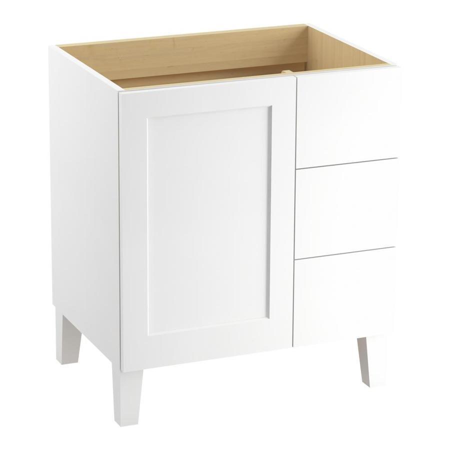KOHLER Poplin Linen White Traditional Bathroom Vanity (Common: 30-in x 22-in; Actual: 30-in x 21.875-in)
