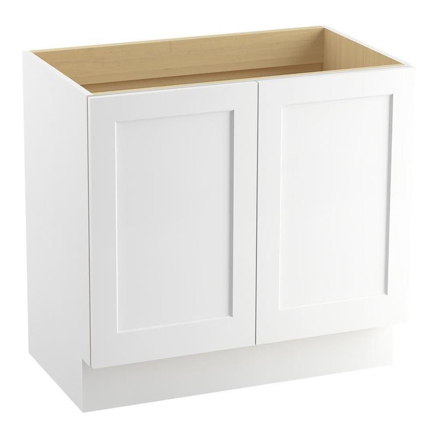 KOHLER Poplin Linen White Traditional Bathroom Vanity (Common: 36-in x 22-in; Actual: 36-in x 21.875-in)