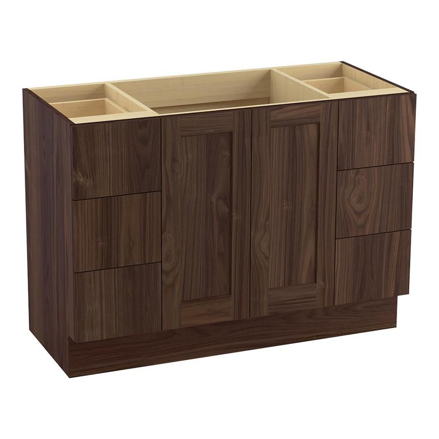 Poplin  In Terry Walnut Traditional Bathroom Vanity At Lowes Com