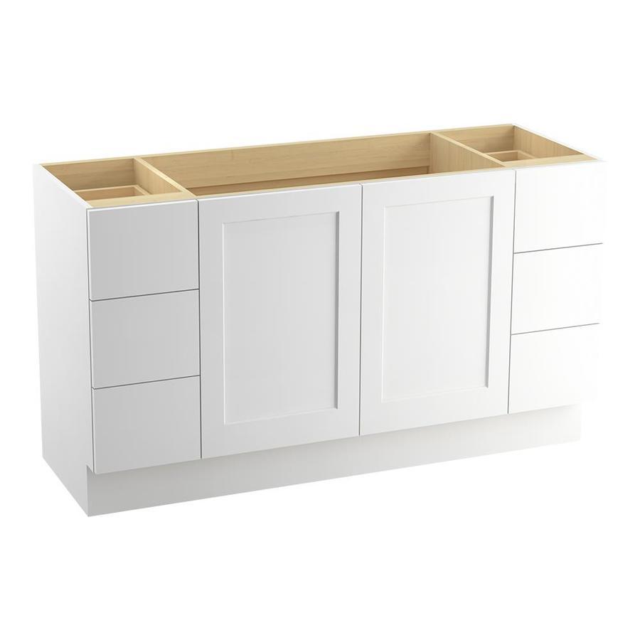 KOHLER Poplin Linen White Traditional Bathroom Vanity (Common: 60-in x 22-in; Actual: 60-in x 21.875-in)