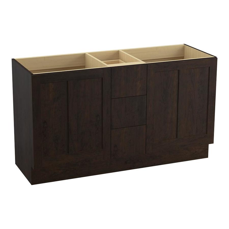 KOHLER Poplin Claret Suede Traditional Bathroom Vanity (Common: 60-in x 22-in; Actual: 60-in x 21.875-in)