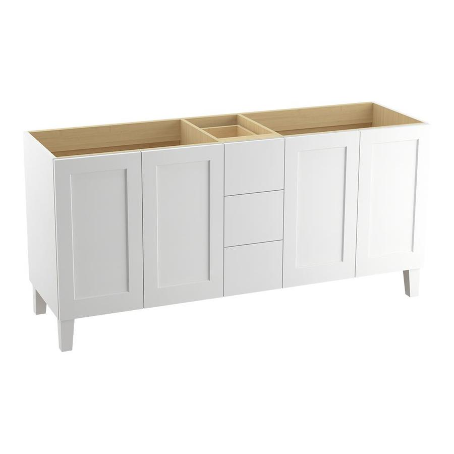 KOHLER Poplin Linen White Traditional Bathroom Vanity (Common: 72-in x 22-in; Actual: 72-in x 21.875-in)