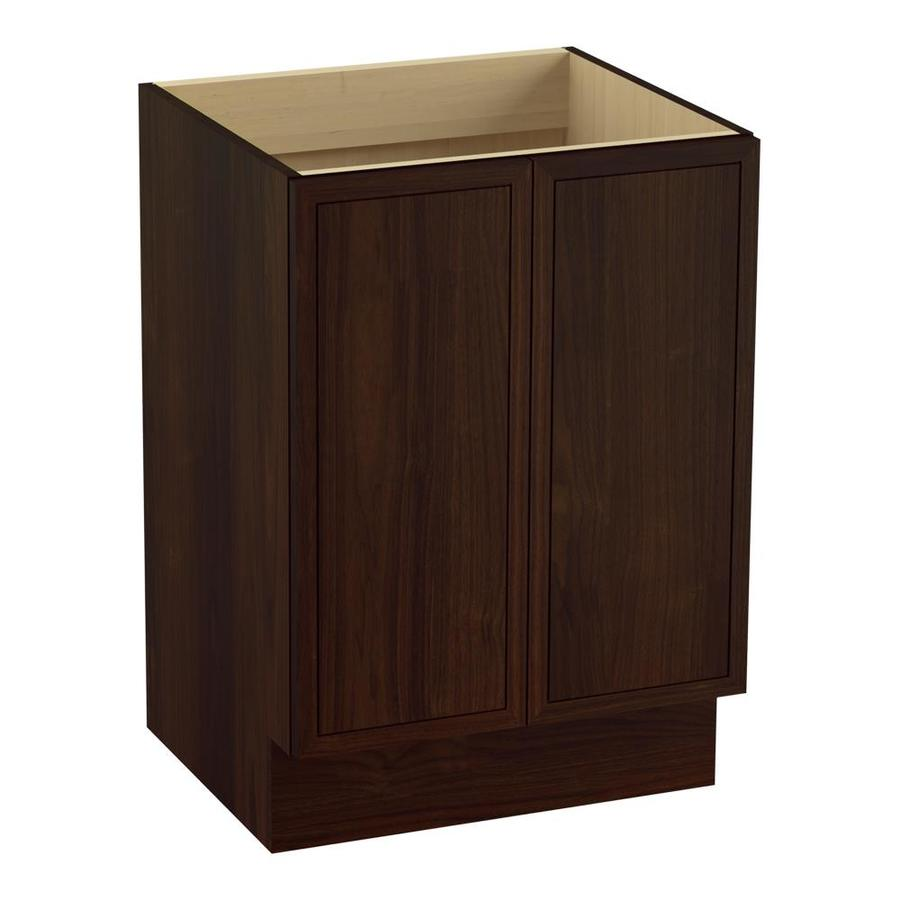 KOHLER Jacquard Ramie Walnut Traditional Bathroom Vanity (Common: 24-in x 22-in; Actual: 24-in x 21.875-in)