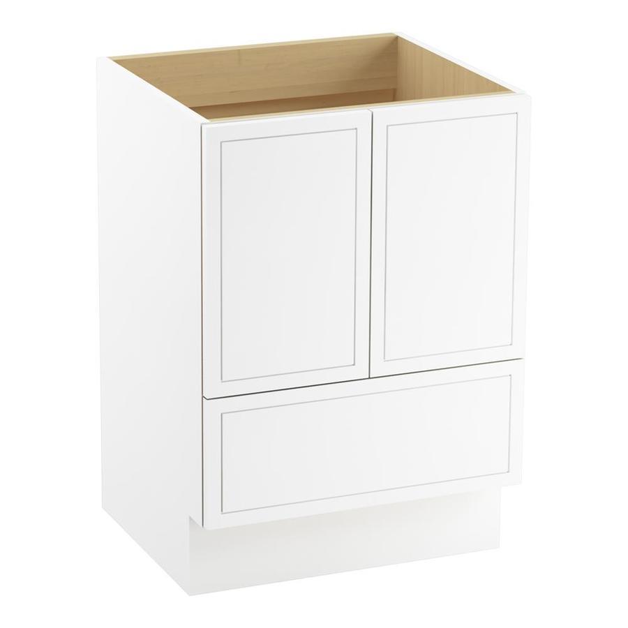 KOHLER Jacquard Linen White Traditional Bathroom Vanity (Common: 24-in x 22-in; Actual: 24-in x 21.875-in)