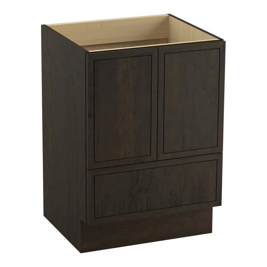 KOHLER Jacquard Felt Grey Traditional Bathroom Vanity (Common: 24-in x 22-in; Actual: 24-in x 21.875-in)