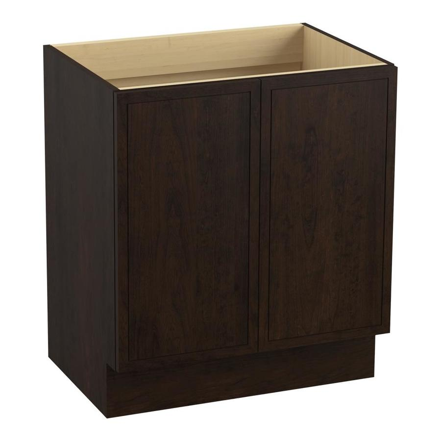 KOHLER Jacquard Claret Suede Traditional Bathroom Vanity (Common: 30-in x 22-in; Actual: 30-in x 21.875-in)
