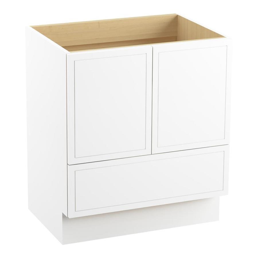 KOHLER Jacquard Linen White Traditional Bathroom Vanity (Common: 30-in x 22-in; Actual: 30-in x 21.875-in)