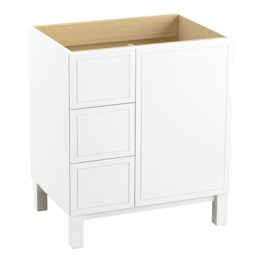 KOHLER Jacquard Linen White Traditional Bathroom Vanity (Common: 30-in x 22-in; Actual: 30-in x 21.875-in)