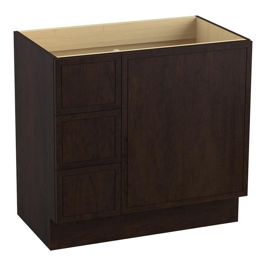 KOHLER Jacquard Claret Suede Traditional Bathroom Vanity (Common: 36-in x 22-in; Actual: 36-in x 21.875-in)