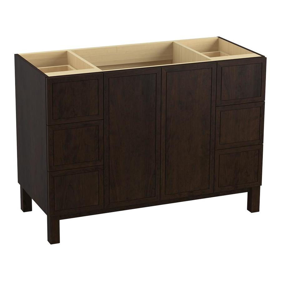 KOHLER Jacquard Claret Suede Traditional Bathroom Vanity (Common: 48-in x 22-in; Actual: 48-in x 21.875-in)