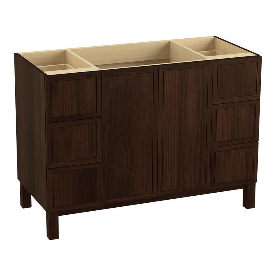 KOHLER Jacquard Ramie Walnut Traditional Bathroom Vanity (Common: 48-in x 22-in; Actual: 48-in x 21.875-in)