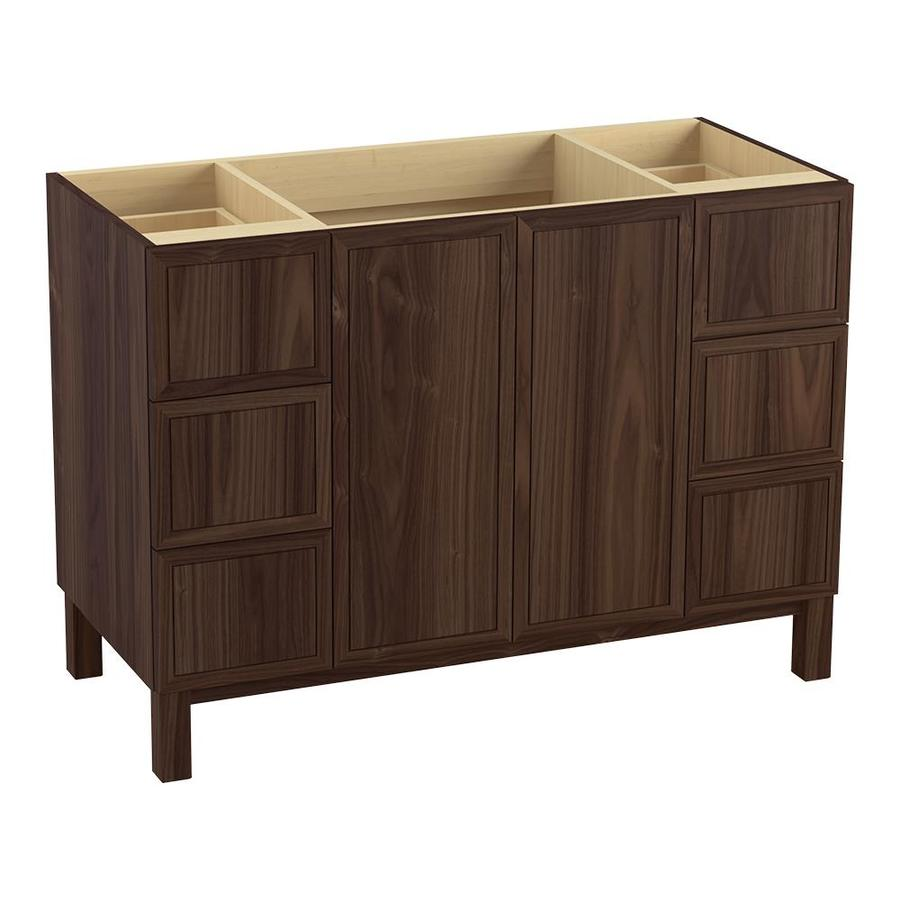 KOHLER Jacquard Terry Walnut Traditional Bathroom Vanity (Common: 48-in x 22-in; Actual: 48-in x 21.875-in)