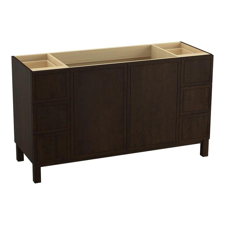 KOHLER Jacquard Claret Suede Traditional Bathroom Vanity (Common: 60-in x 22-in; Actual: 60-in x 21.875-in)