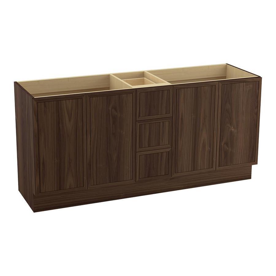 KOHLER Jacquard Terry Walnut Traditional Bathroom Vanity (Common: 72-in x 22-in; Actual: 72-in x 21.875-in)