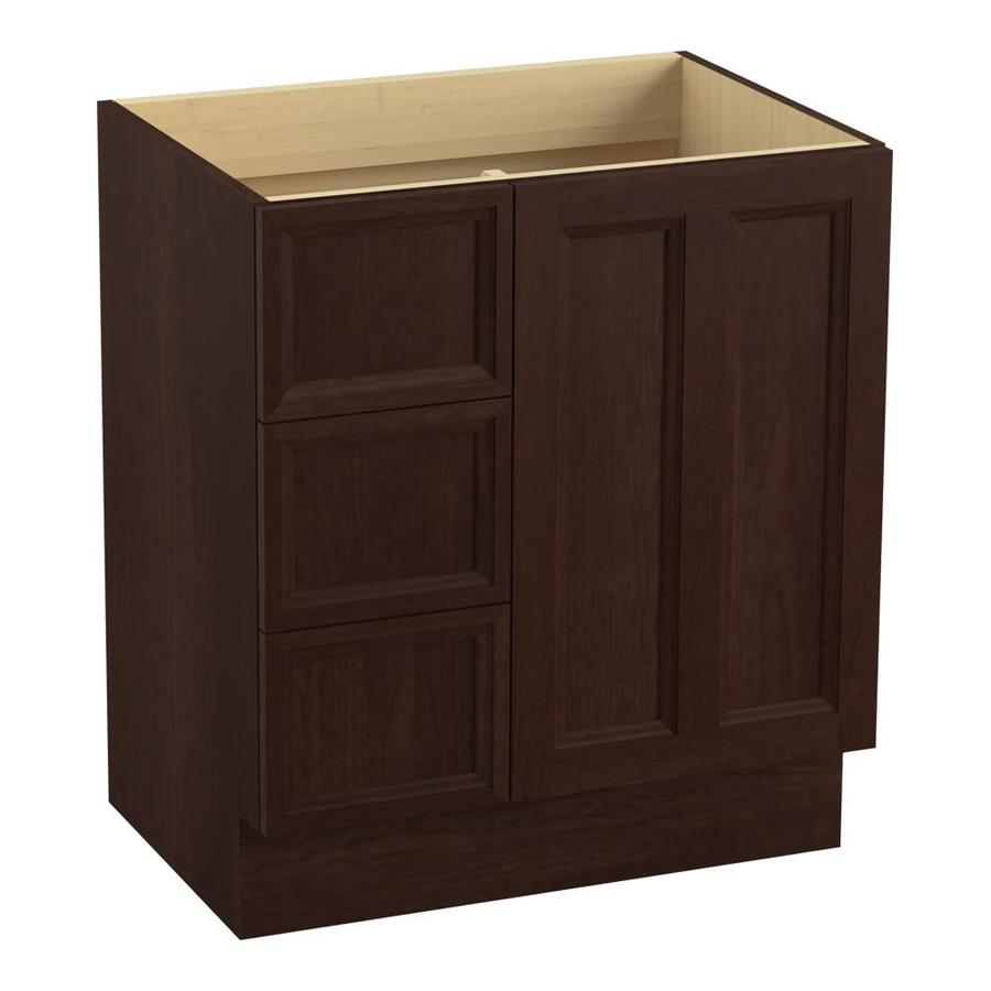 KOHLER Damask Cherry Tweed Traditional Bathroom Vanity (Common: 30-in x 22-in; Actual: 30-in x 21.875-in)
