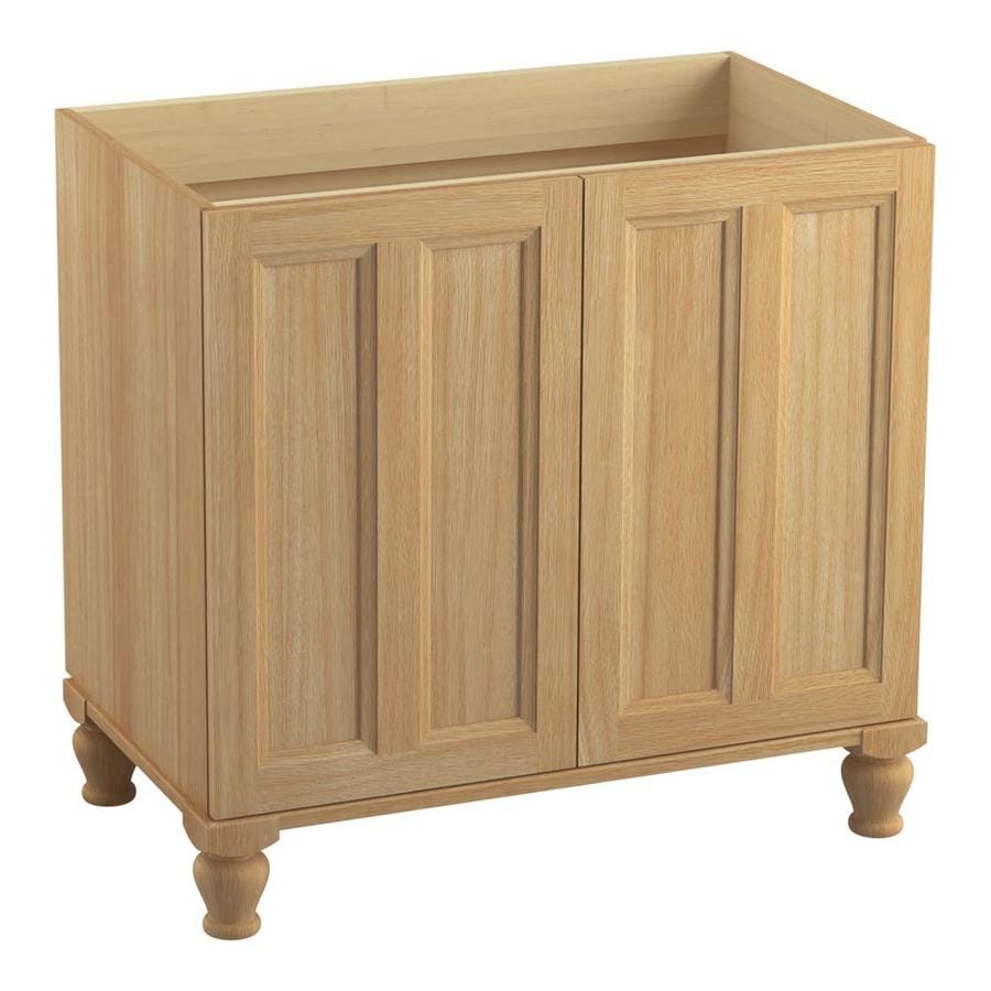 KOHLER Damask Khaki White Oak Traditional Bathroom Vanity (Common: 36-in x 22-in; Actual: 36-in x 21.875-in)