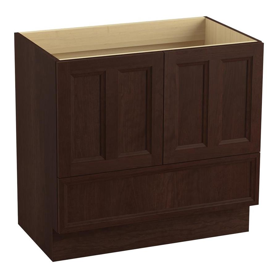 KOHLER Damask Cherry Tweed Traditional Bathroom Vanity (Common: 36-in x 22-in; Actual: 36-in x 21.875-in)