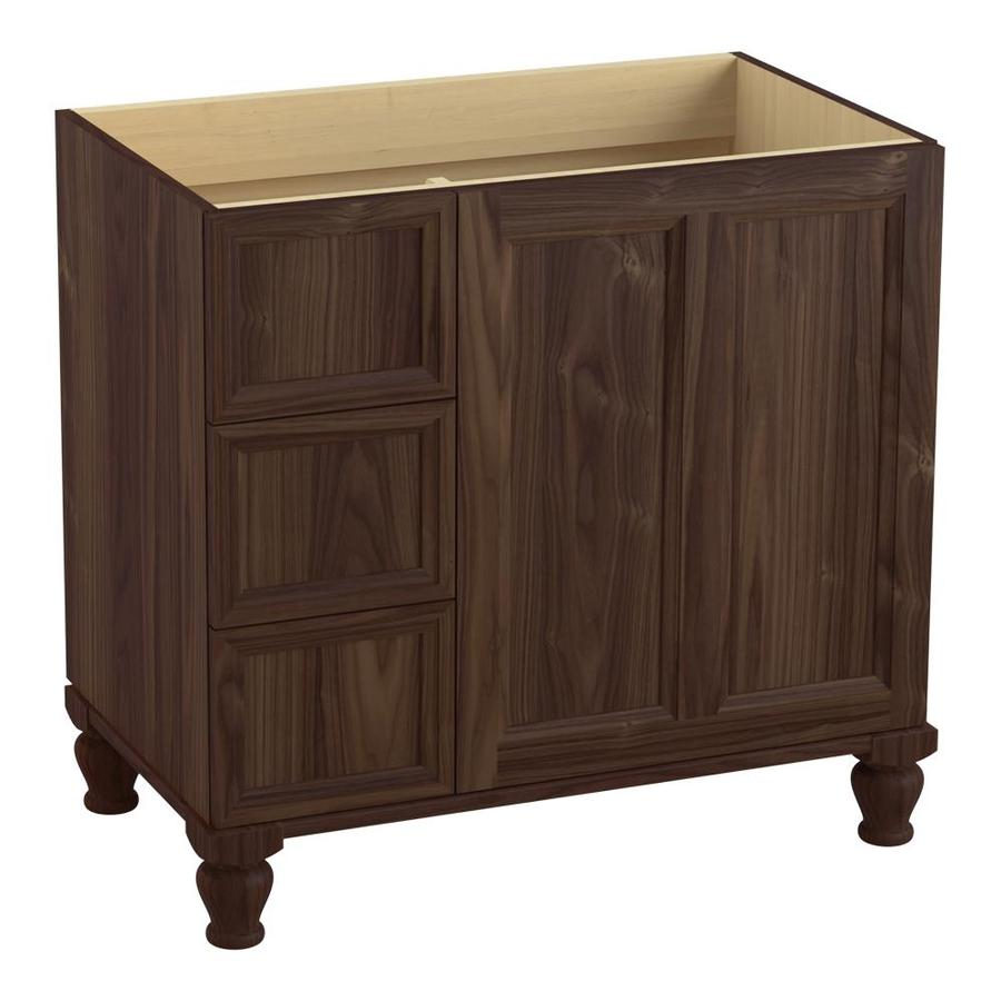 KOHLER Damask Terry Walnut Traditional Bathroom Vanity (Common: 36-in x 22-in; Actual: 36-in x 21.875-in)
