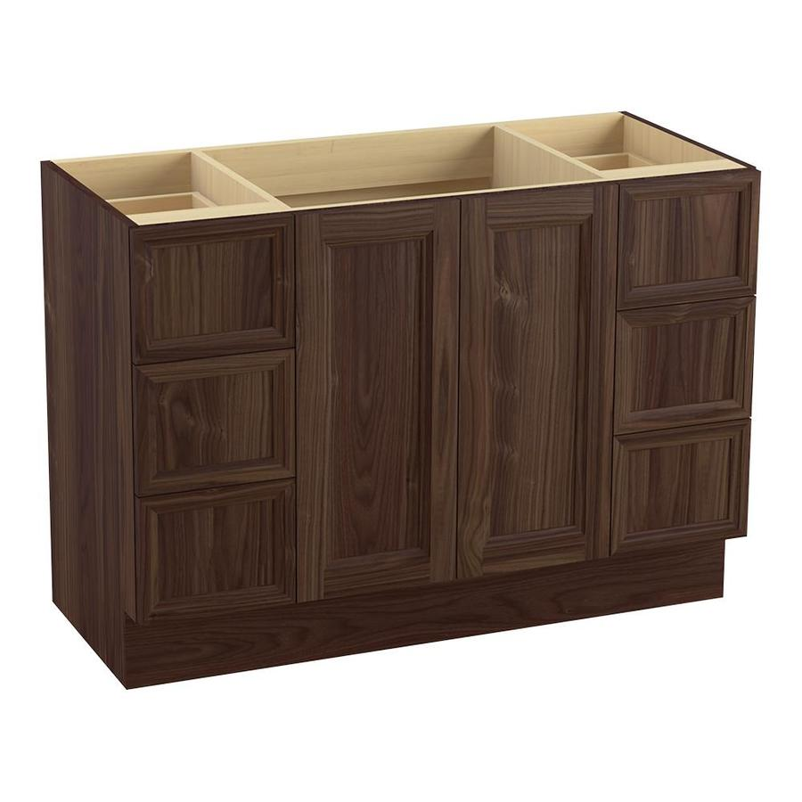 KOHLER Damask Terry Walnut Traditional Bathroom Vanity (Common: 48-in x 22-in; Actual: 48-in x 21.875-in)
