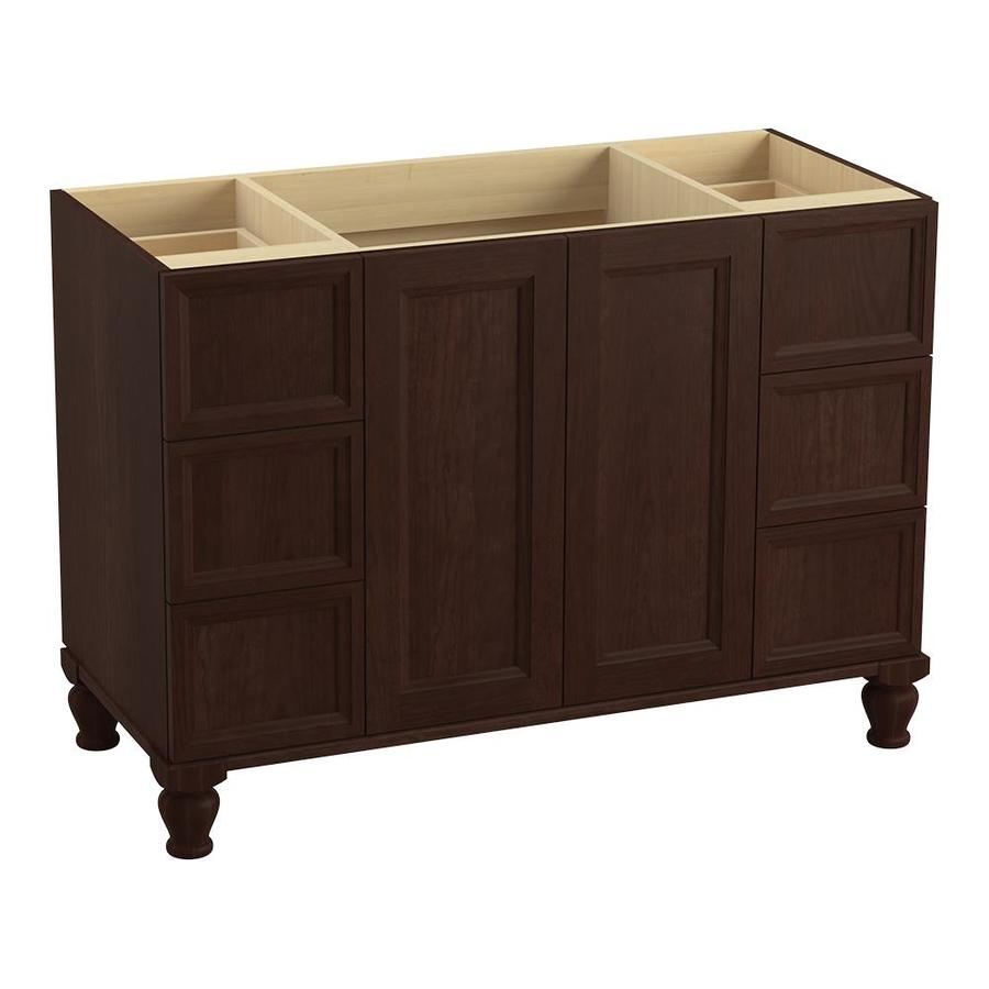 KOHLER Damask Cherry Tweed Traditional Bathroom Vanity (Common: 48-in x 22-in; Actual: 48-in x 21.875-in)