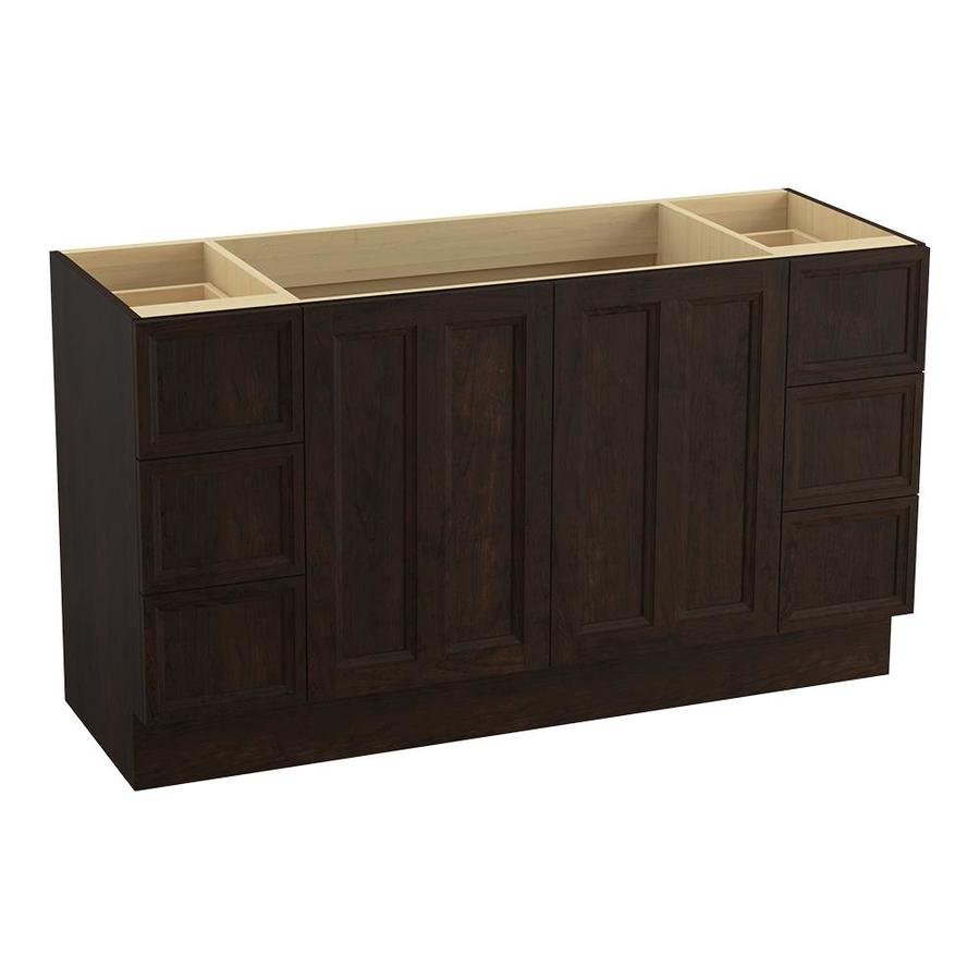 KOHLER Damask Claret Suede Traditional Bathroom Vanity (Common: 60-in x 22-in; Actual: 60-in x 21.875-in)