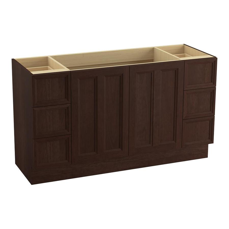KOHLER Damask Cherry Tweed Traditional Bathroom Vanity (Common: 60-in x 22-in; Actual: 60-in x 21.875-in)